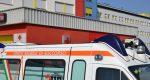 Un'ambulanza all'ingresso del Pronto Soccorso dell'Ospedale di Sassuolo